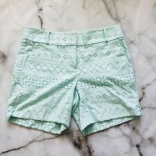 Ann Taylor Loft Riviera Short Womens Eyelet Lace Mint Green Teal Size 4 Bermuda