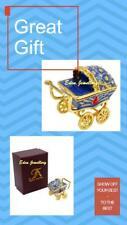 TAYLOR AVEDON Keepsake Trinket Crystal Jewellery Box Baby Pram Christening Gift