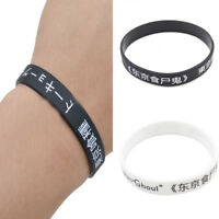 1Pc New Japanese Anime Tokyo Ghoul WristBand Silicone Rubber Bracelet Bangle Fan