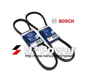 BOSCH V BELT SET FOR ALFA ROMEO MONTREAL MAR 74-JUN 76 2.6 V8 DOHC AR10832