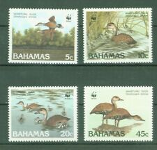 Bahamas 1988 - Gänse - Pfeifgans - WWF - West Indian whistling duck - Nr. 672-75