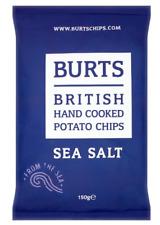 Burts British Hand Cooked Potato Chips Sea Salt 150g Case Of 10