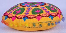 Indian Suzani Embroidered Cotton Cushion Cover Ethnic Decorative  Home Decor