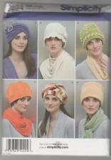 Simplicity Sewing Pattern 2494 Miss Fleece Hats in Three Sizes Sz S-L