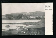 West Africa Sierra Leone FREETOWN View from King-Tom pre1919 PPC pub Lisk-Carew