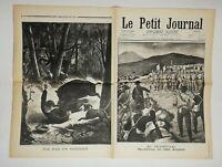 N590 La Une Du Journal Le petit journal 8 décembre 1901 au transvaal