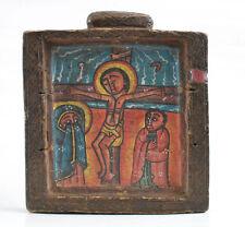 Ethiopian Orthodox Coptic Icon Biblical Paintings Wood Crucifixion Angeles