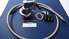 SBC Chevy Mechanical fuel pump kit High Volume  w/ fittings & S.S. Braided Hose