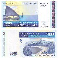 Madagascar 5000 Ariary 2009 P-91b Banknotes UNC