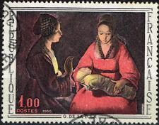 France Arts Newborn Christ De La Tour Famous Painting stamp 1966
