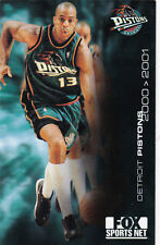 2000-01 DETROIT PISTONS BASKETBALL POCKET SCHEDULE -FOX SPORTS