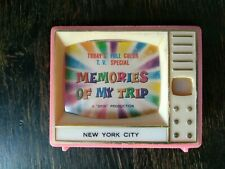 ++ RARE VINTAGE MEMORIES OF MY TRIP TV NY NEW YORK CITY VIEW-MASTER SLIDE TOY