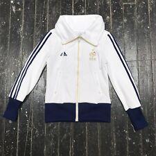 VTG 80s 90s Adidas FFF Zip-up Sweatshirt Track Jacket Athletic White Blue S