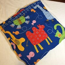 "Barnslig Djur Duvet Cover Ikea 78"" x 80"" Blue Animals"