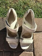 Miu Miu Wedges Heels Sandals Women's Shoes Size 37 Italy