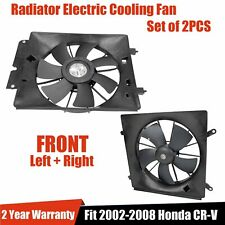Radiator & Ac Condenser Cooling Fan Assembly Pair Fit 02-06 Honda Cr-V Crv Black