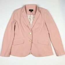 Talbots Aberdeen Knit Blazer Jacket Light Pink Gold Buttons Anchor Lining 4 NWT