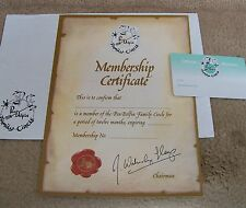 Pendelfin Membership Certificate & Wallet Card with Special Envelope Rare items