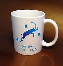 Café Taza Signo del zodiaco Capricornio azul Colector de Ideas regalo