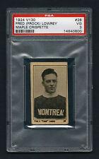 PSA 3 FRED FROCK LOWREY 1924 Maple Crispette Hockey Card #28