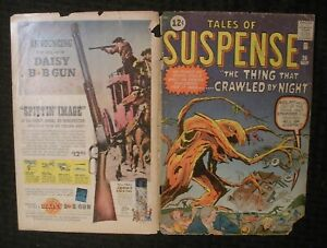 COVER ONLY 1962 TALES OF SUSPENSE #26 Thing That Crawled by Night Kirby GD- 1.8