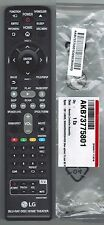 NEW LG BLU-RAY HOME THEATER REMOTE CONTROL AKB73775801 FITS BH5140S BH5140