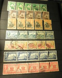 "(35) VINTAGE ""GOLD COAST"" (British) 1948 =USED (Duplicates)"