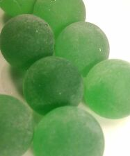 "Glass Marbles 5/8"" inch Frosted Green 1lb 75pcs M174"