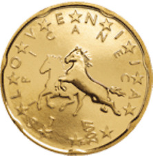Slovenië  2007    20 cent    UNC uit de rol    UNC du rouleaux !!!
