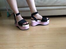 Zara WOMEN tres tonos Cuña Sandalias de plataforma size UK 7 BNWT