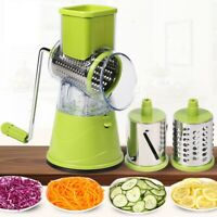 Vegetable Cutter Round Mandoline Slicer with 3 Stainless Steel Chopper Blades Ki