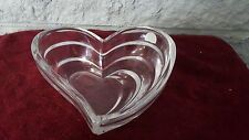 Lenox Fine Crystal Heart Shape Candy Dish Bowl