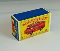 MATCHBOX 'REG.WHEELS' NO.57C LAND ROVER FIRE TRUCK CUSTOMISED DISPLAY BOX ONLY