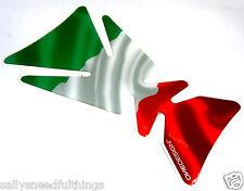 Almohadilla De Tanque De Gel de Motocicleta Universal Protector de bandera italiana 215 X 125 mm