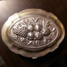 Antique German Silver  Box with Gold Wash inside, 1886-1888