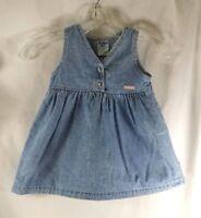 Vintage Girls OshKosh B'gosh Dress Light Denim Size 2T Made in the USA Stonewash