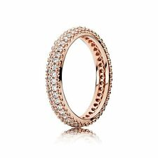 8US 58 EU S925 Inspiration Within 14k Rose Gold Pl Ring by Pandora's Angels