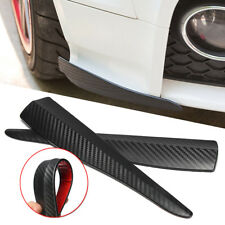 Carbon Fiber Bumper Door Edge Anti Scratch Crash Strips Cover Trim Accessory