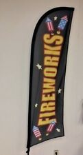FIREWORKS FEATHER FLAG 7FT **FLAG ONLY**