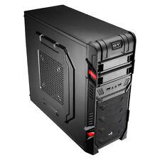 Aerocool GT Advance tutto nero Mid Tower Gaming case USB 3.0 con Quiet 12cm Rosso