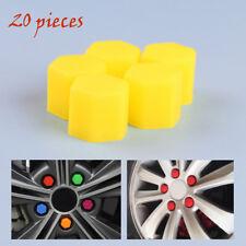 17mm Yellow Silicone Car Wheel Lug Nut Caps Bolt Cover Fit VW Audi 20pcs