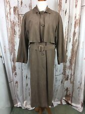 London Fog Womans Brown 10P Petite Suede Lined Trench Coat