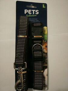 Pets Collection Hundeleine mit Halsband verstellbar Braun NEU