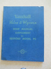 1950 Vauxhall shop manual supplement for the Bedford Model PC Van