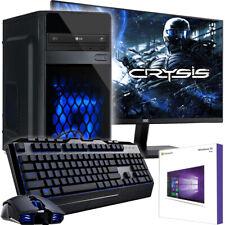 """AMD Gaming Komplett PC Set AMD FX™ Quad 4x 3,4 GHz Radeon™ SSD 22""""TFT Windows 10"""
