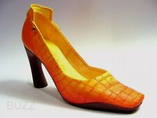 Later 'Gator Playful Alligator Pump Bold Color Curved Heel Just the Right Shoe