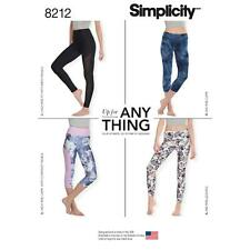 SIMPLICITY SEWING PATTERN MISSES' KNIT LEGGINGS WITH LENGTH VARIATIONS 8212