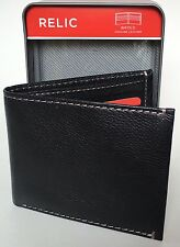 Relic® Men's Sawyer Bifold Genuine Leather Wallet RML8300001 Black New In Box