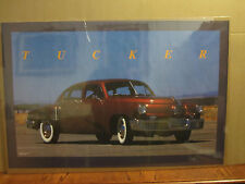vintage 1988 Tucker car poster garage man cave  5338
