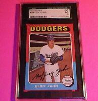 1975 Topps #294 Geoff Zahn,  Graded MINT SGC 9 (96), Dodgers,
